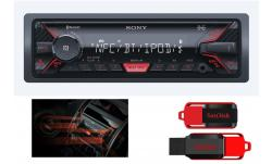 RADIO SONY DSX-A400BT MP3 USB BLUETOOTH + 16GB