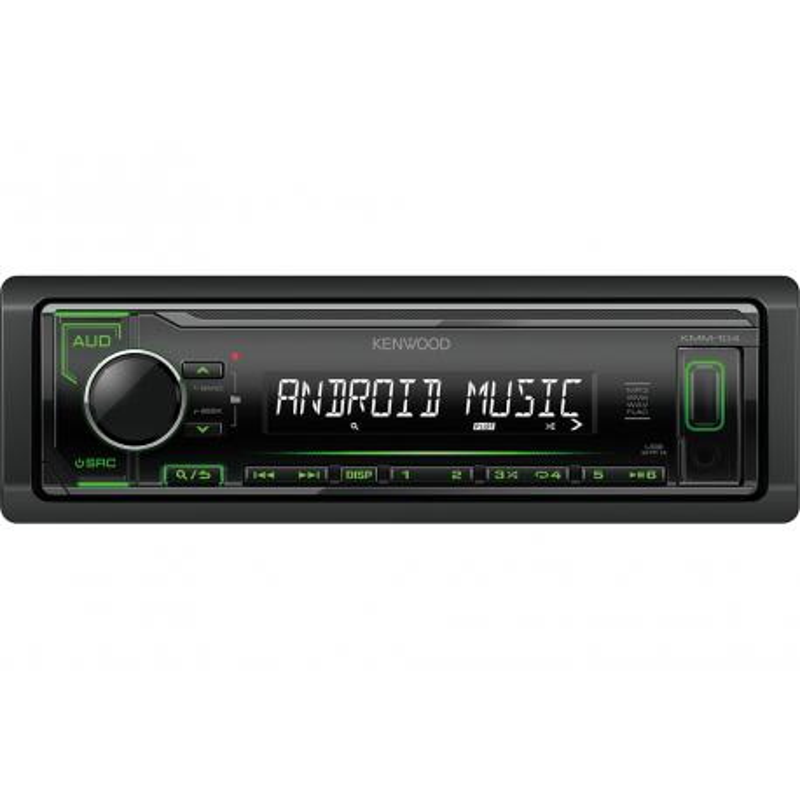 KENWOOD KMM-104GY RADIO SAMOCHODOWE MP3 USB AUX FLAC ZIELONE