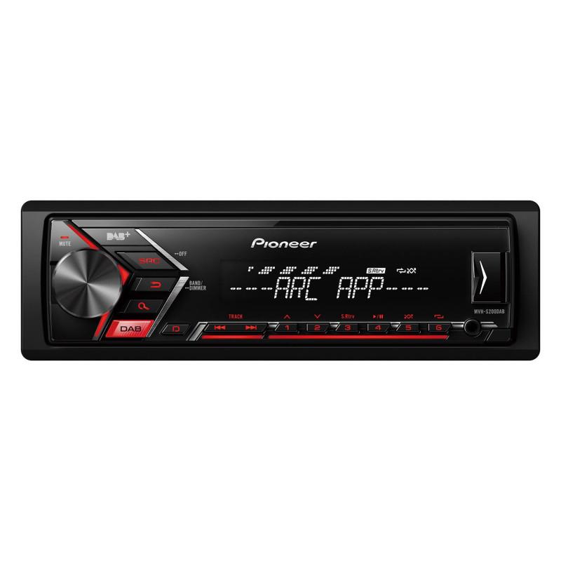 PIONEER MVH-S110UB Radio samochodowe AUX MP3 USB Czerwone 4x50W