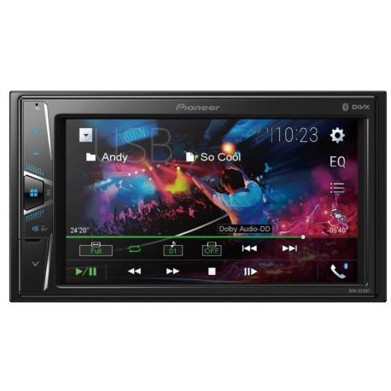 PIONEER MVH-G210BT Radio samochodowe 2DIN Bluetooth MP3 USB