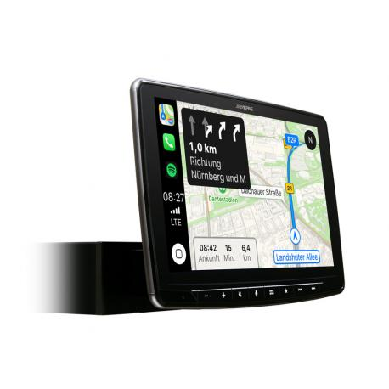 """ALPINE iLX-F903D Radio samochodowe z wyświetlaczem LCD 9 """" Apple CarPlay Android Auto"""